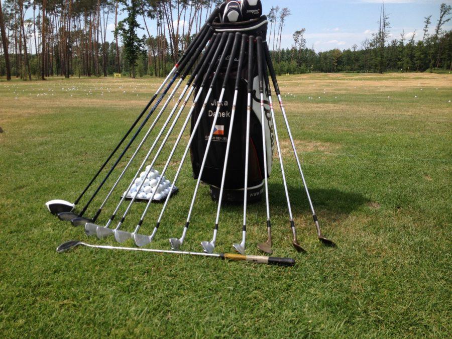 Trener golfu golfový bag